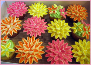 Marshmallow Flower Cupcakes (2)