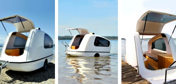 The Sealander Camper On Land Boat In Water What