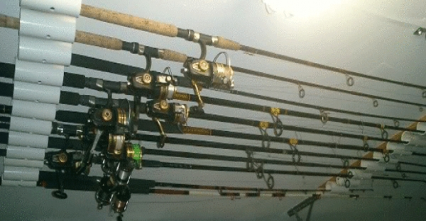 DIY Fishing Rod Holder