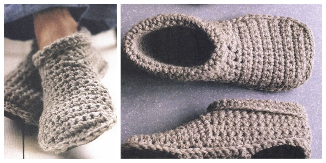 Crochet Free Patterns Slipper Boots : Cozy Crocheted Slipper Boots (Free Pattern)