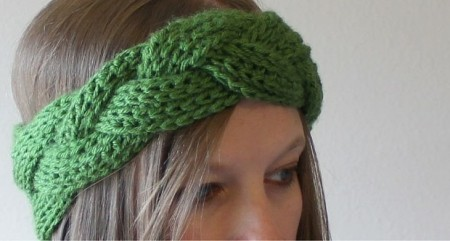 Braided crochet headband and earwarmer free pattern dt1010fo