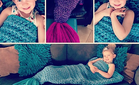 Crochet Mermaid Blanket Free Patterns