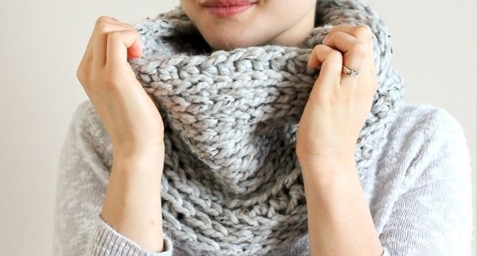 knit look crochet cowl